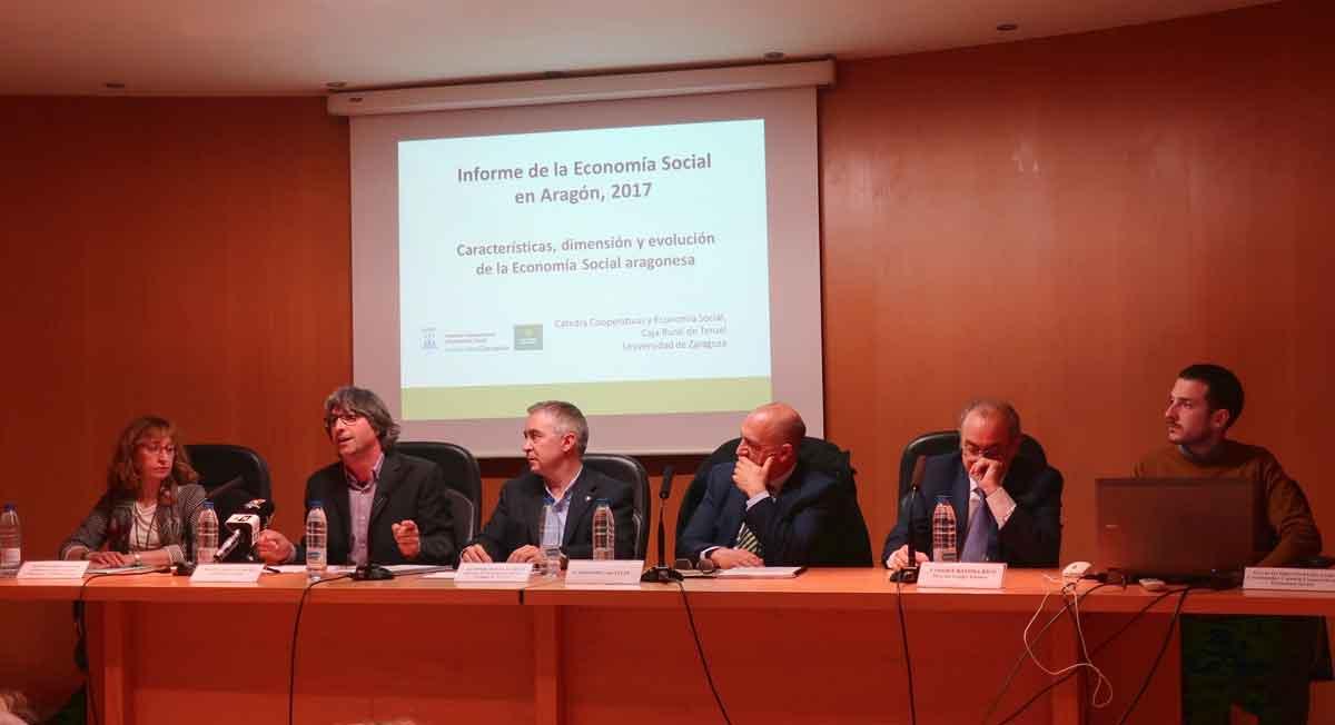 ATADI es homenajeada en la presentación del Informe de la Economía Social en Aragón 2017
