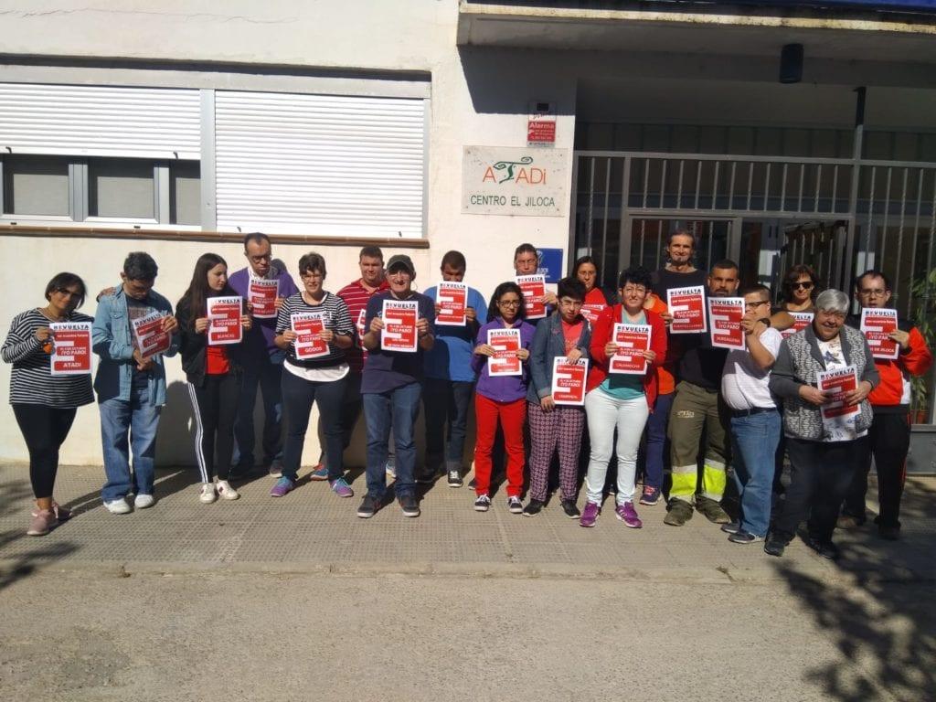 ATADI Jiloca en el paro del 4 d eoctubre de la España Vaciada
