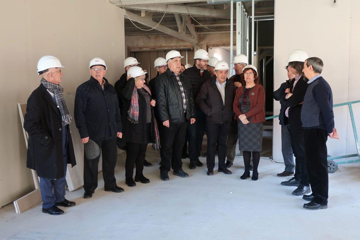 María Victoria Broto visita las obras de la residencia Atadi Alcañiz