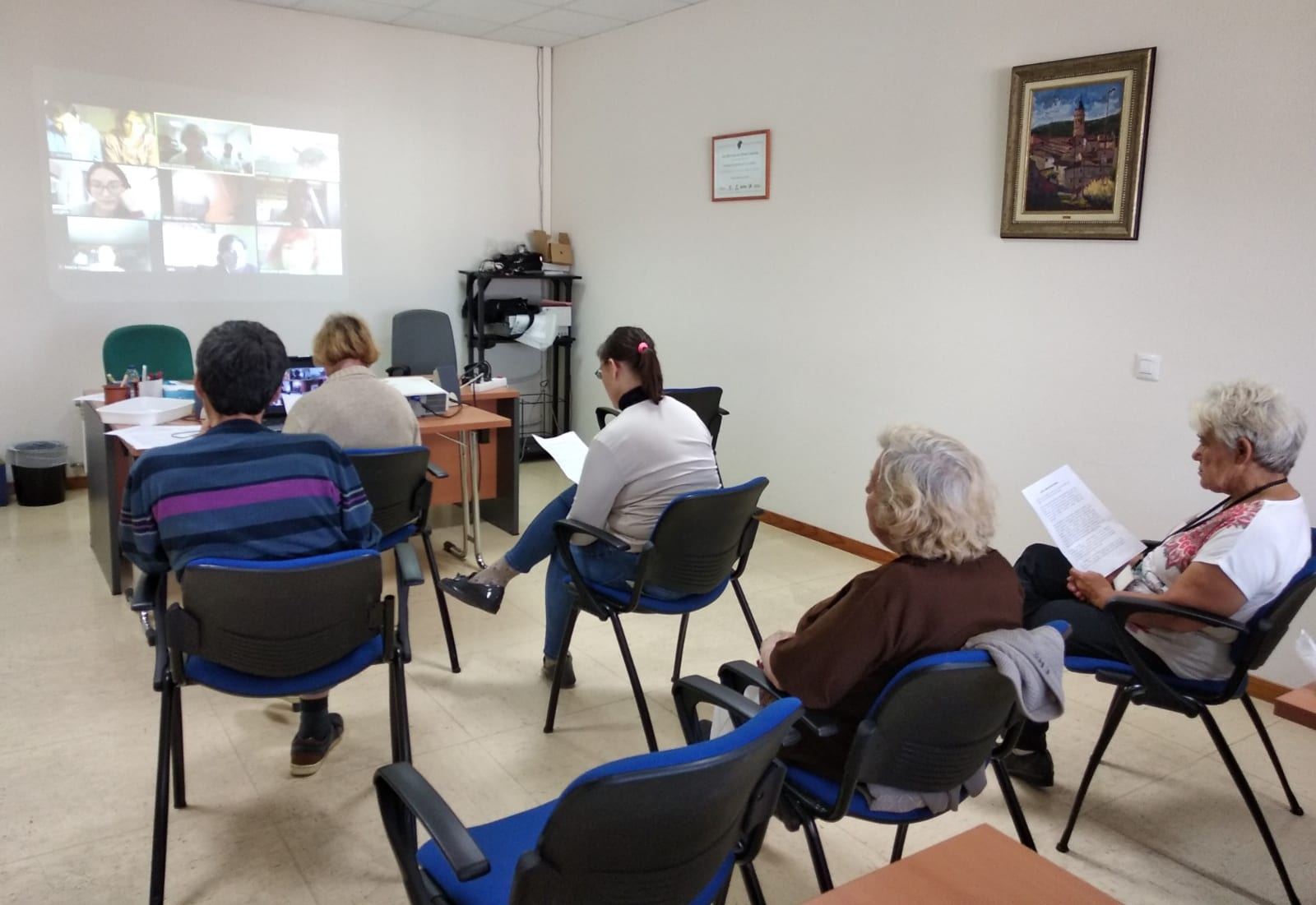 Las actividades online cobran protagonismo en la residencia ATADI Alcorisa
