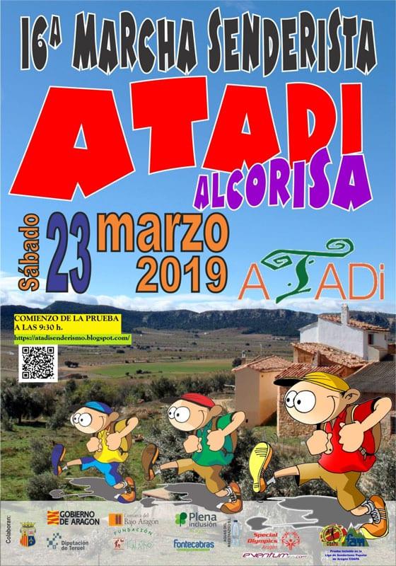 La Marcha Senderista ATADI Alcorisa celebra su XVI edición el 23 de marzo