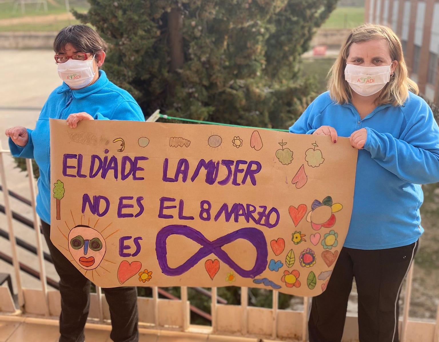 ATADI reivindica en el 8M la igualdad para las mujeres con discapacidad
