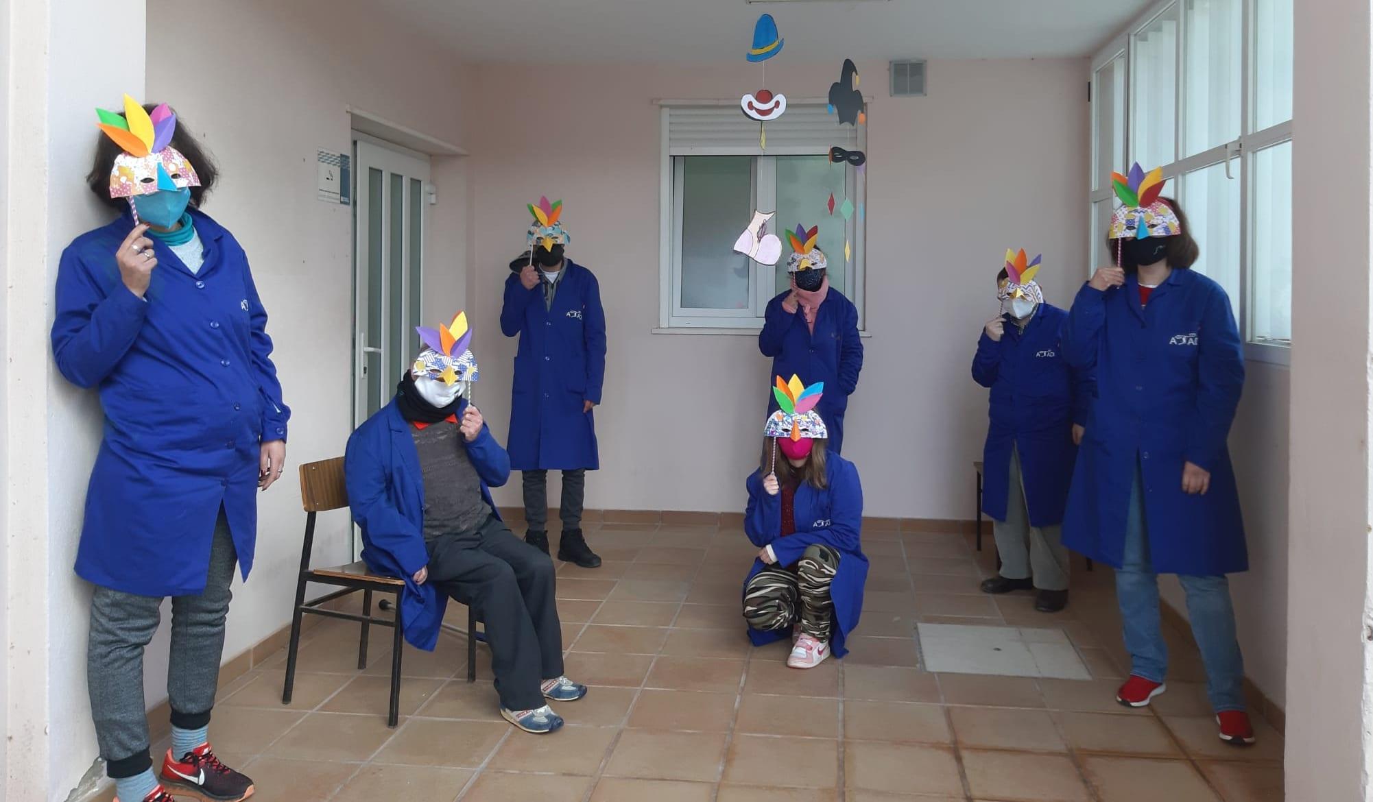 Los centros de ATADI celebran un Carnaval diferente