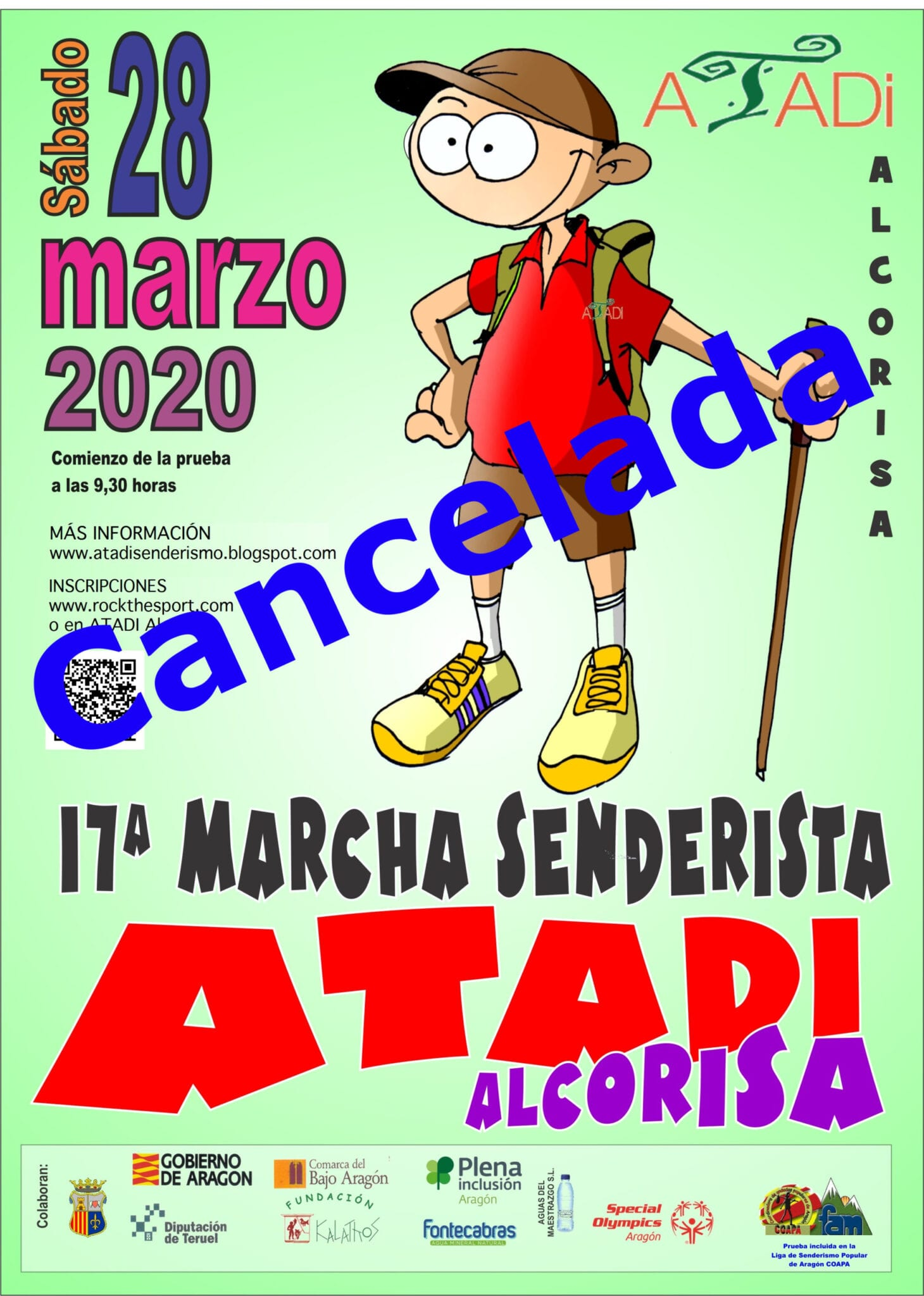 Se suspende la Marcha Senderista ATADI Alcorisa