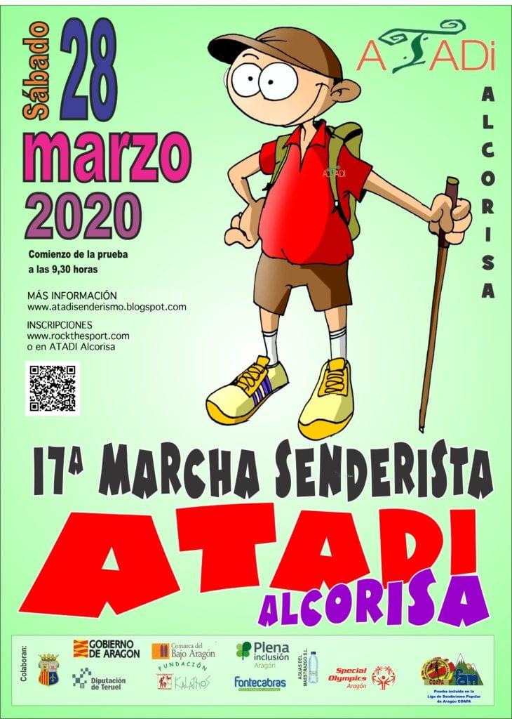 Cartel XVII Marcha Senderista Atadi Alcorisa