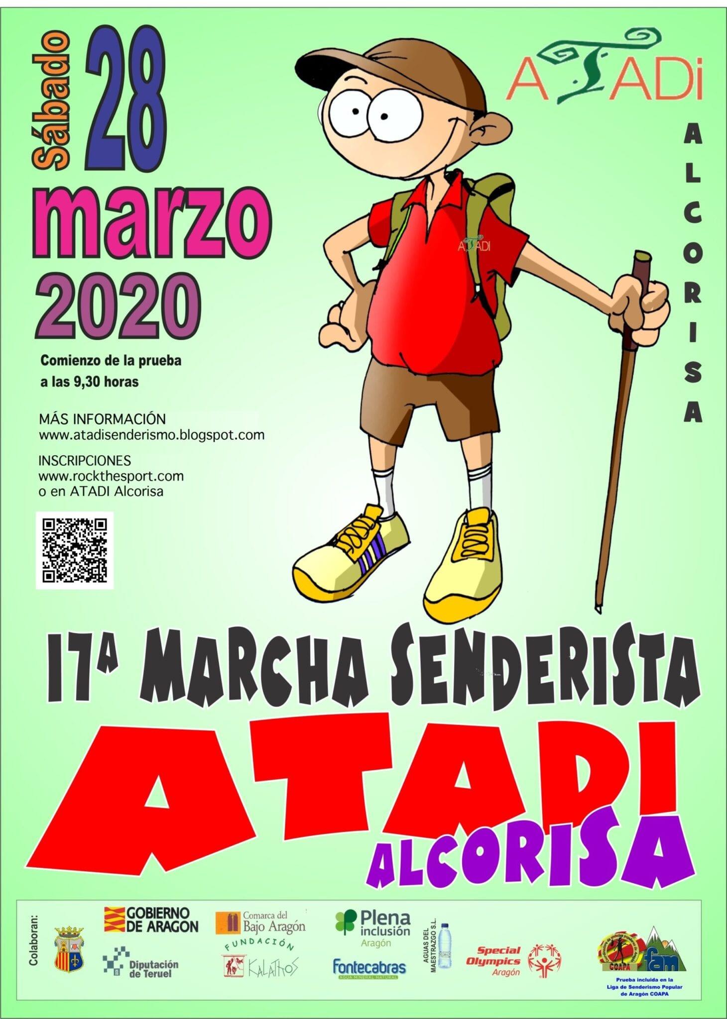 Inscripciones abiertas para la XVII Marcha Senderista ATADI Alcorisa