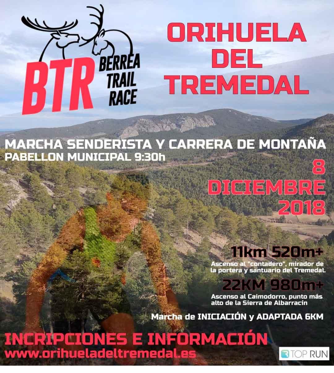 Inscripciones abiertas para la marcha senderista y carrera de montaña Berrea Trail Race