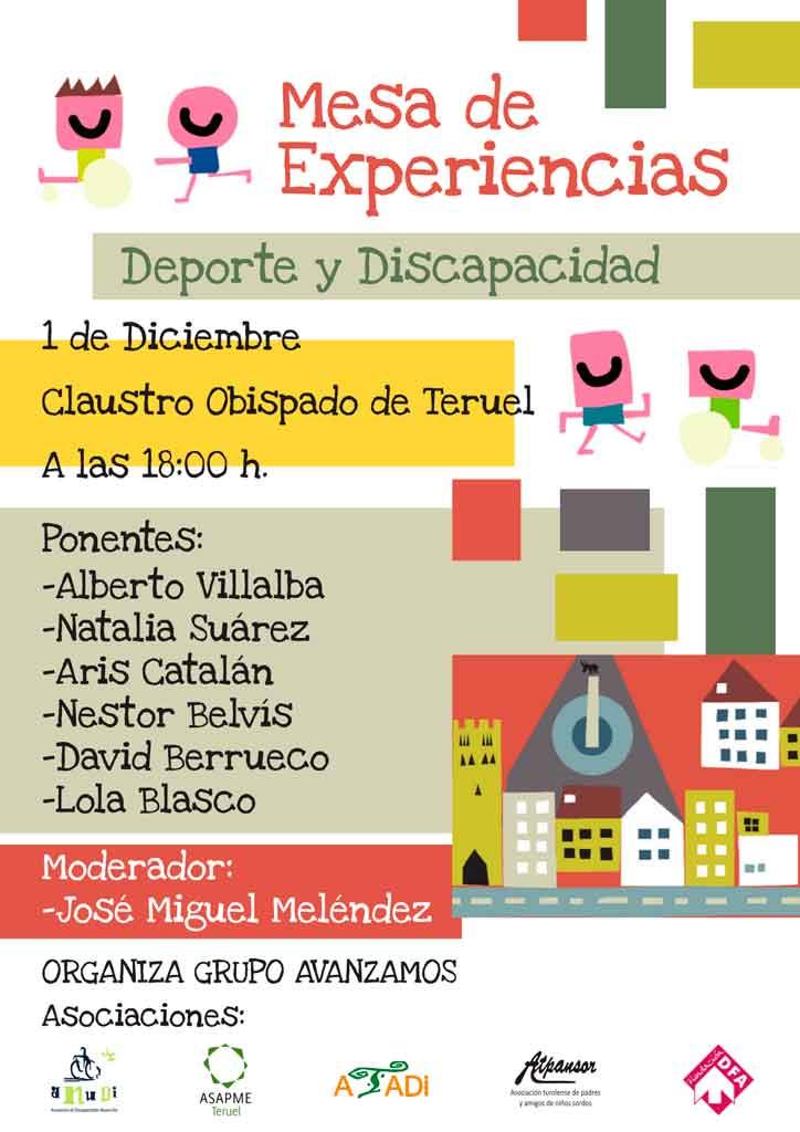 Deportistas con discapacidad compartirán sus experiencias en Teruel