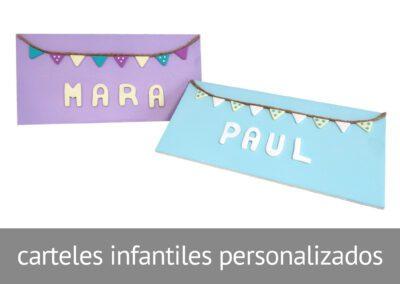Letreros infantiles personalizables en Diverco