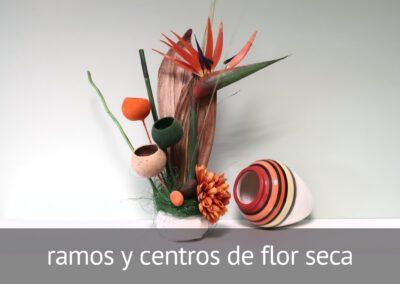 Ramos y centros de flor seca en Diverco
