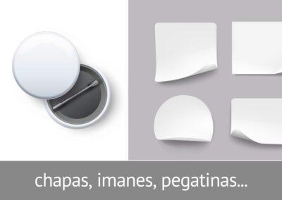 Chapas, imanes o pegatinas personalizadas en el taller de impresión de ATADI