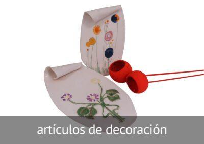 Artículos de decoración hechos en ATADI