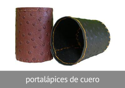 Portalápices artesanales de cuero en Diverco