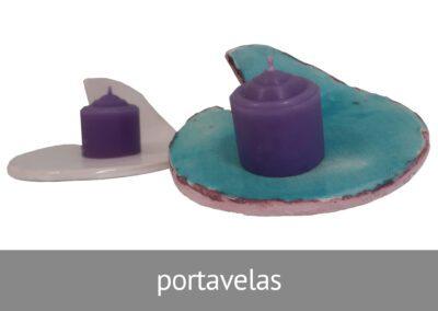 Portavelas artesanales hechos en ATADI