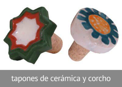 Tapones de cerámica y corcho hechos en ATADI