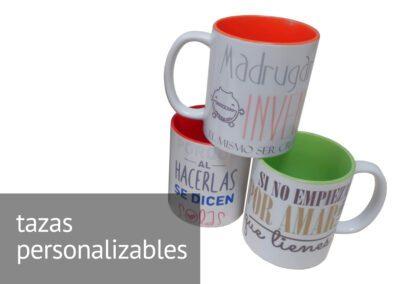 Tazas personalizables en Diverco, la tienda de ATADI